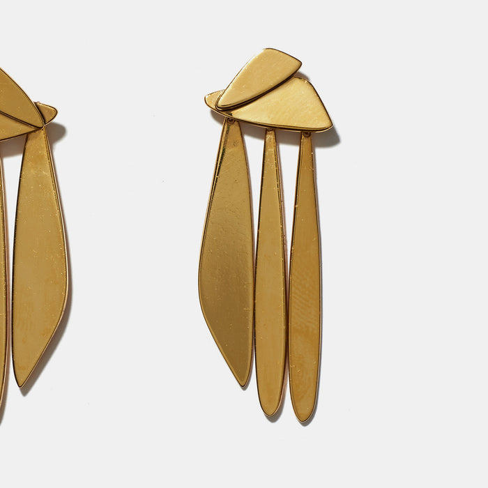 Gold Sail Earrings, Earrings, Lizzie Fortunato, Collyer's Mansion - Collyer's Mansion