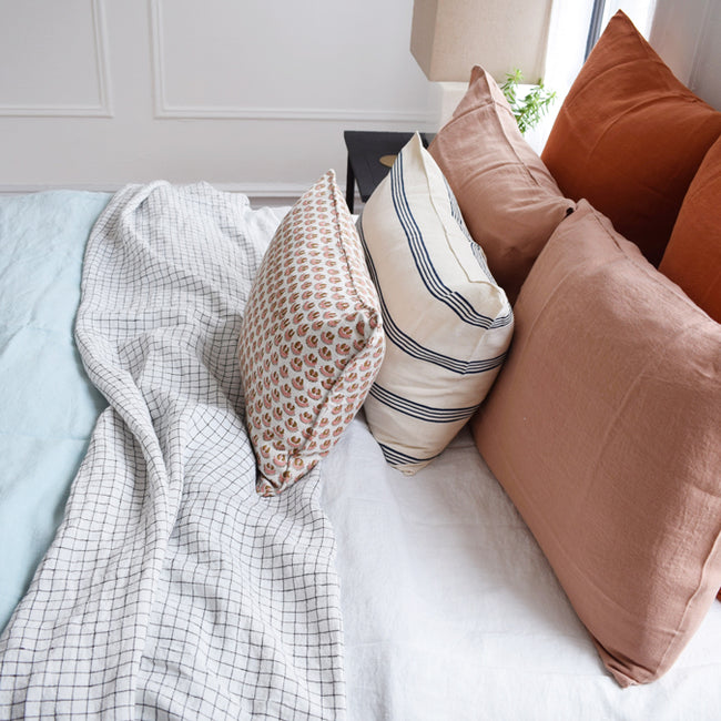 Linen Euro Pillowcase, sienna