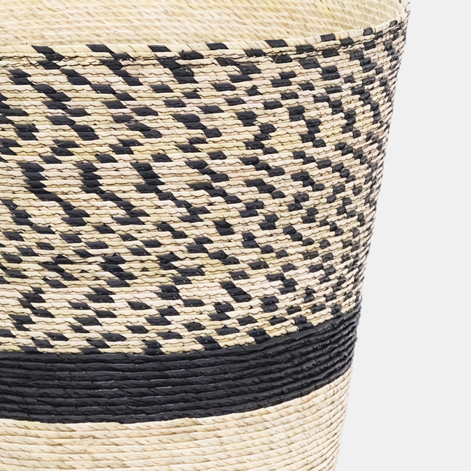 Pinto Pattern Conical Basket