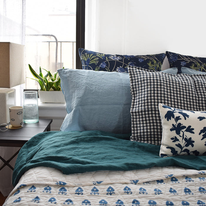 Paan Patti Blue Quilt, multiple sizes