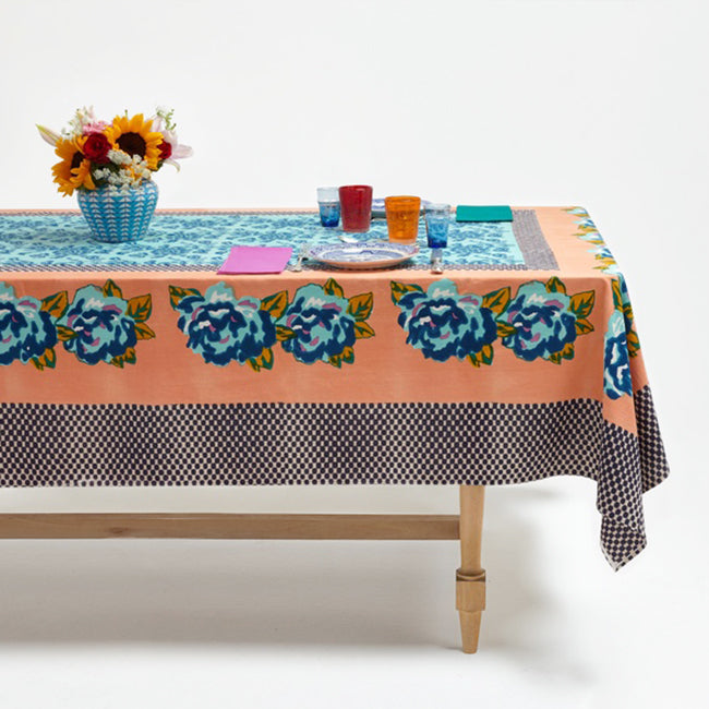 Double Peonia Peach Tablecloth