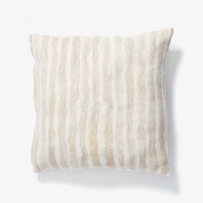 Peach Painted Stripe Pillow