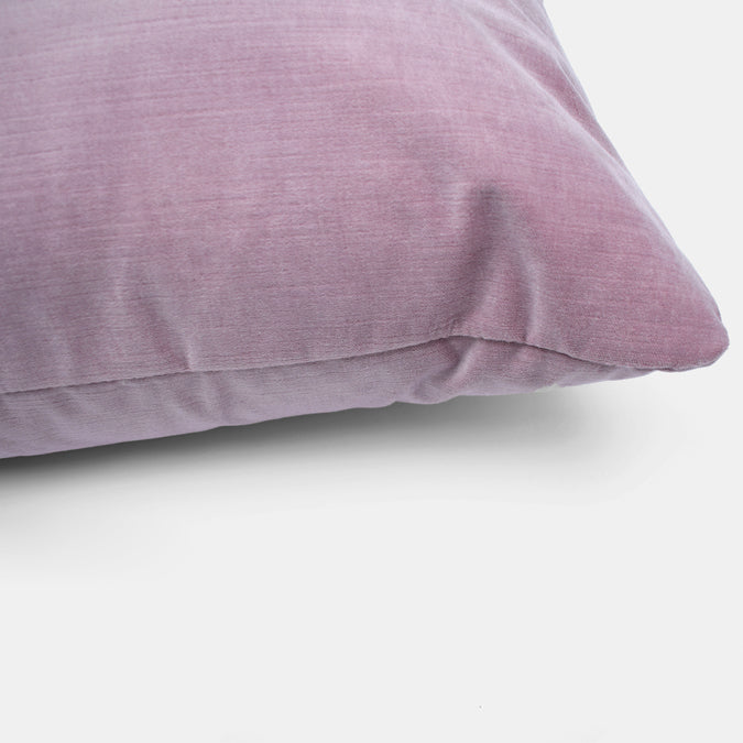 McKenzie Lilac Velvet Pillow, square