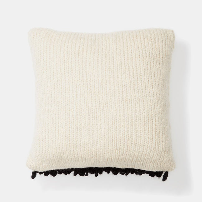 Black Moon Shag Pillow