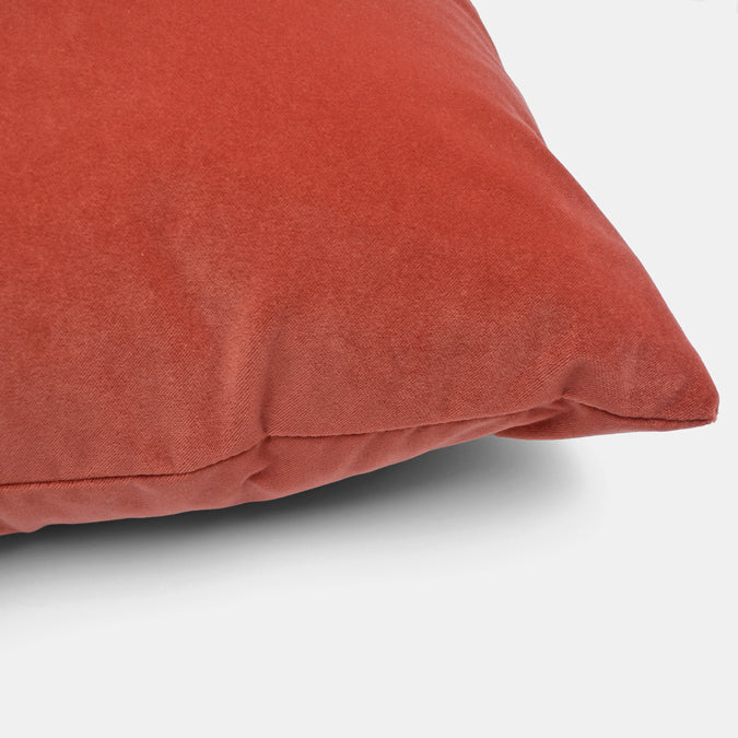 Winthrop Tangelo Velvet Pillow, square