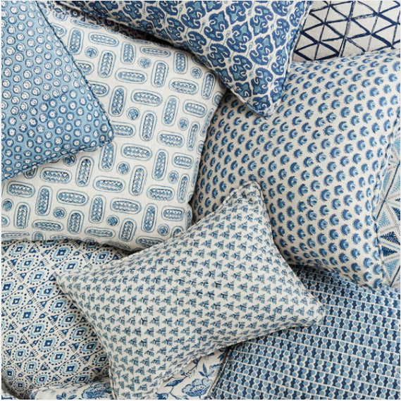 Mondello Azure Pillow, square