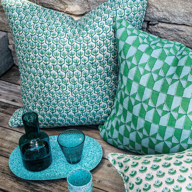 Sintra Emerald Pillow, Square