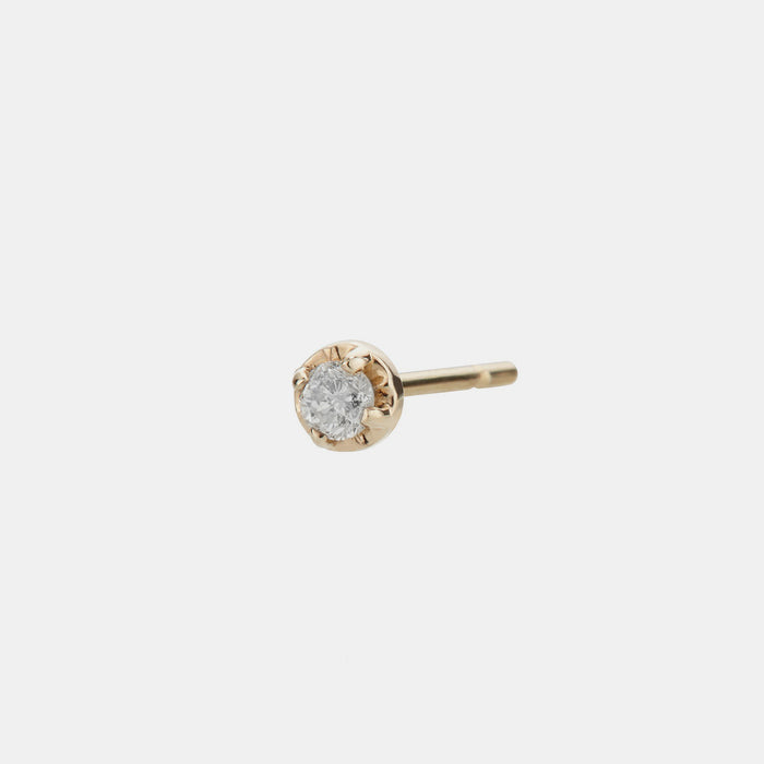 Individual Prong Stud, white diamond