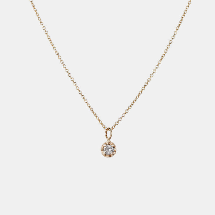 White Diamond Prong Necklace