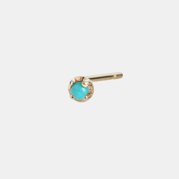 Individual Prong Earring, turquoise