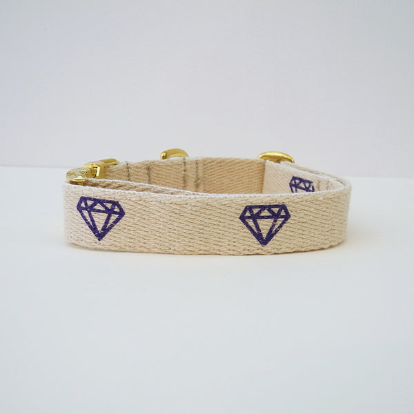 Purple Diamond Dog Collar