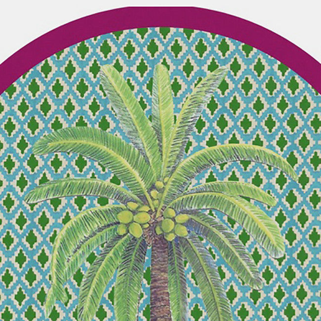 Palm Tree Circle Placemat, green