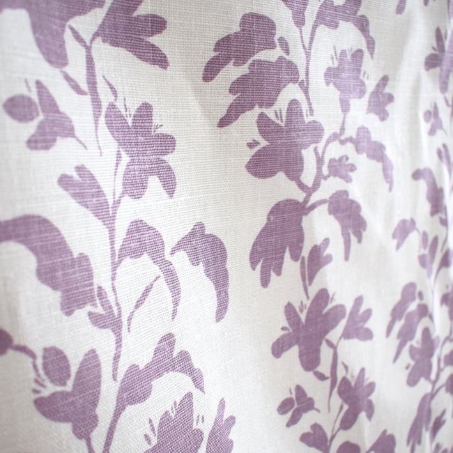 Lilac Vine Linen Fabric by the Yard