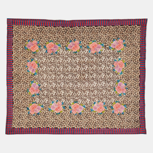 Arabesque Coffee Quilt, queen/king