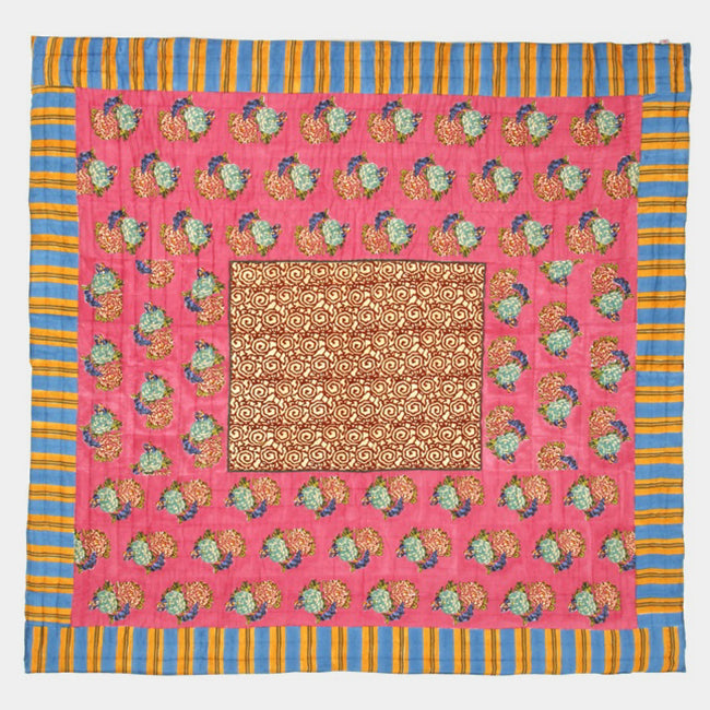 King Old Pink Quilt, queen/king