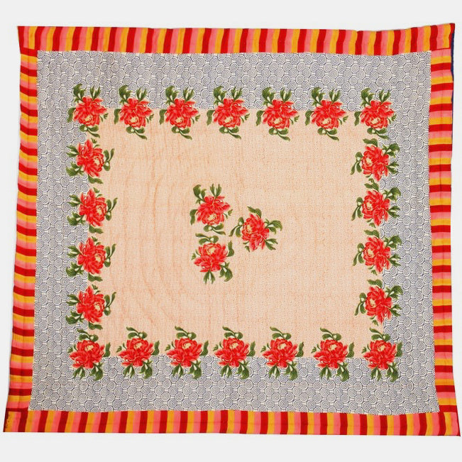 Camelia Orange Quilt, queen/king, Quilt, Lisa Corti, Collyer's Mansion - Collyer's Mansion