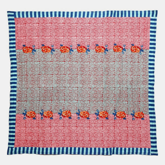 Maharani Coral Quilt, queen/king, Quilt, Lisa Corti, Collyer's Mansion - Collyer's Mansion