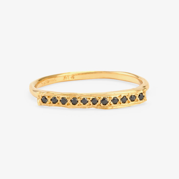 Black Diamond Bridge Ring