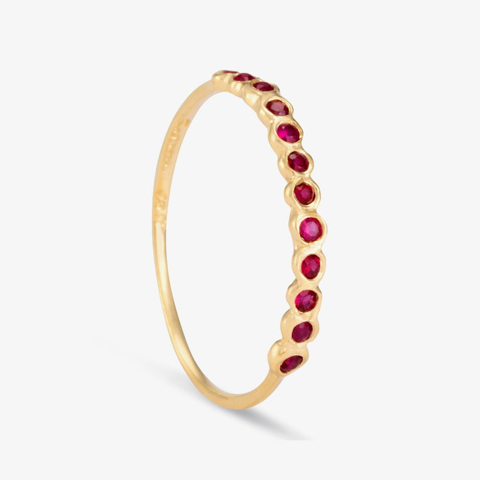Ruby Half Eternity Ring
