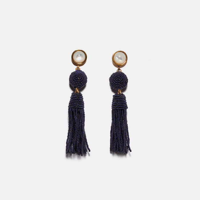 Havana Earrings in Navy