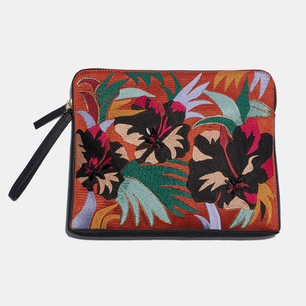 Safari Clutch in Cuban Hibiscus