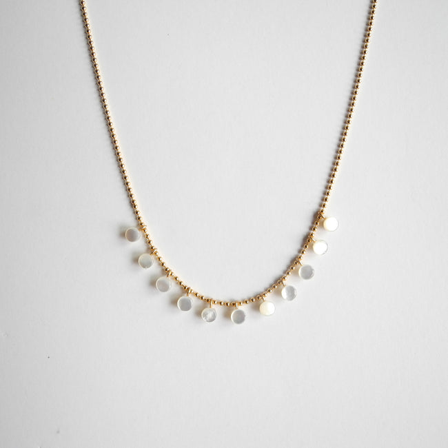 Mini Mother of Pearl Necklace, Necklace, I. Ronni Kappos, Collyer's Mansion - Collyer's Mansion