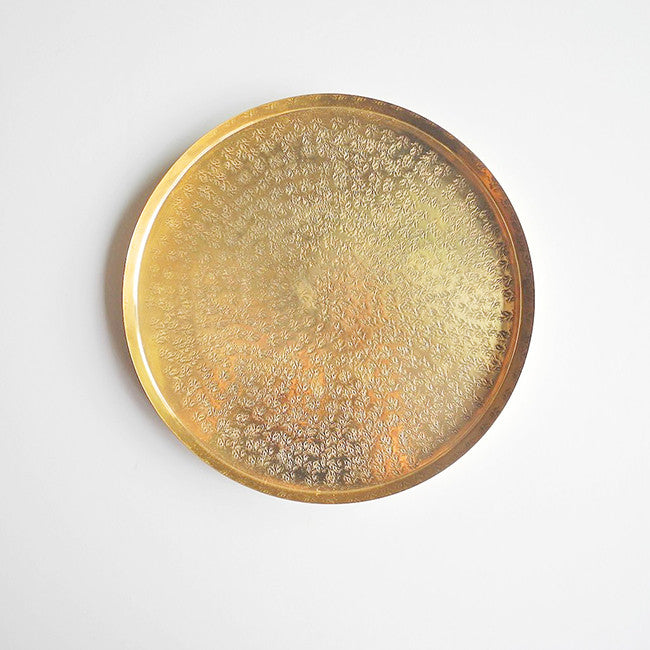 Roost Round Brass Tray for dining or home decor - Collyer's Mansion