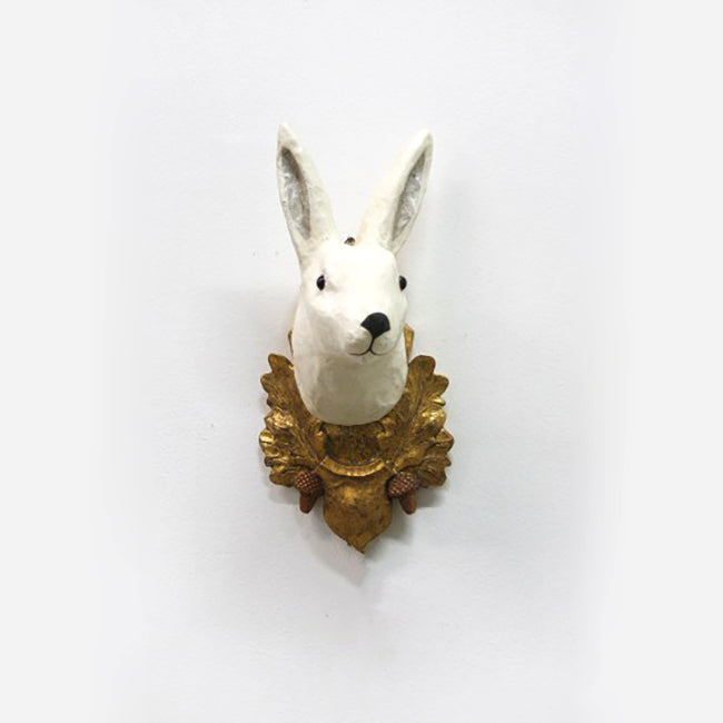 Rabbit and Oak Wall Mount
