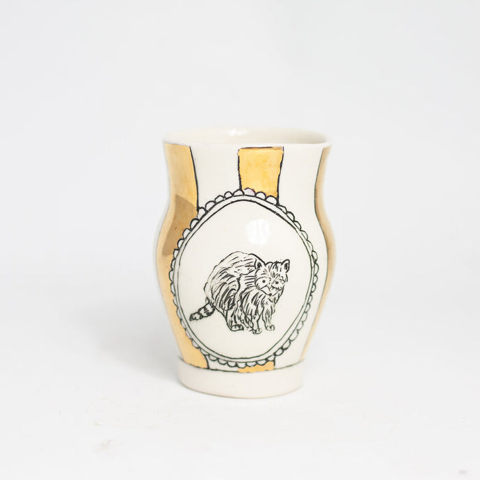 Woodland Animal Medium Gold Vase