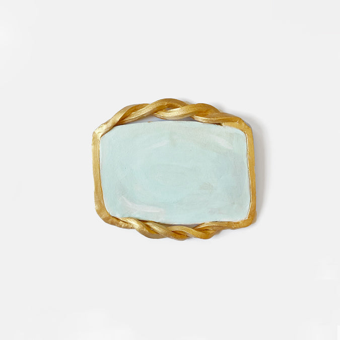 Rectangle Clay Mirror Wall Art