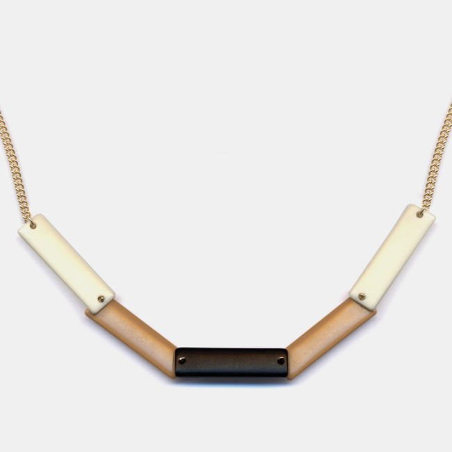 Vintage Lucite Rectangles Necklace