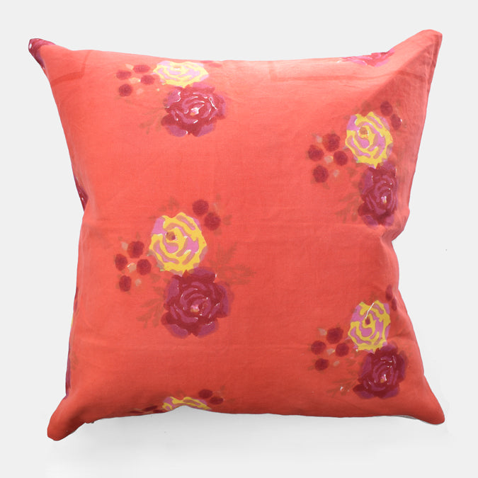 Red Flower Pillow, Square