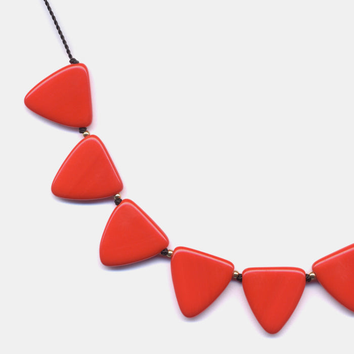 Red Triangle Necklace