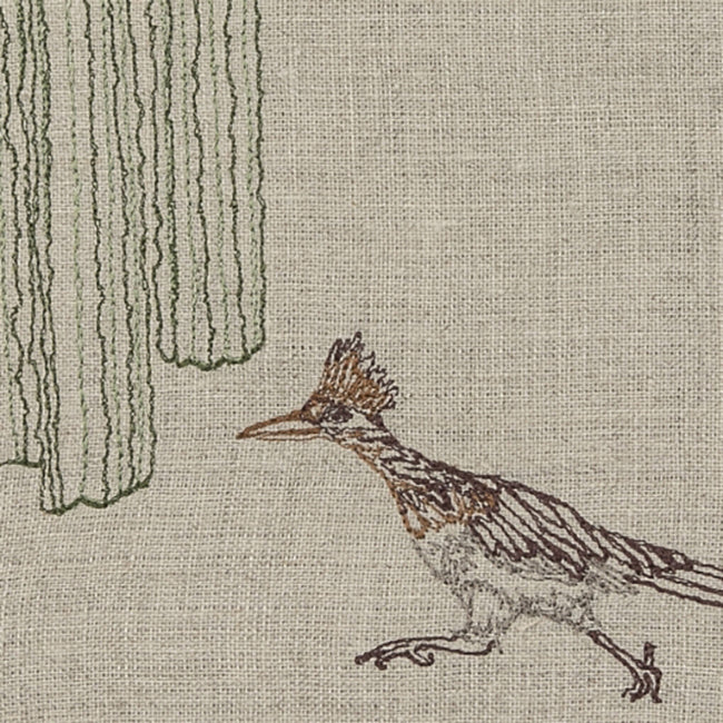 Roadrunner and Organ Pipe Cacti Tea Towel