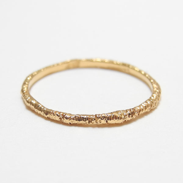 18k Gold Organically Etched Ring