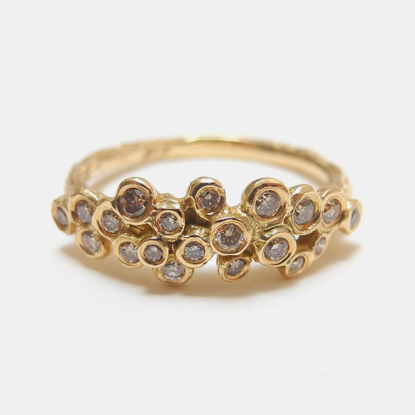 18k Brown Diamond Cluster Ring