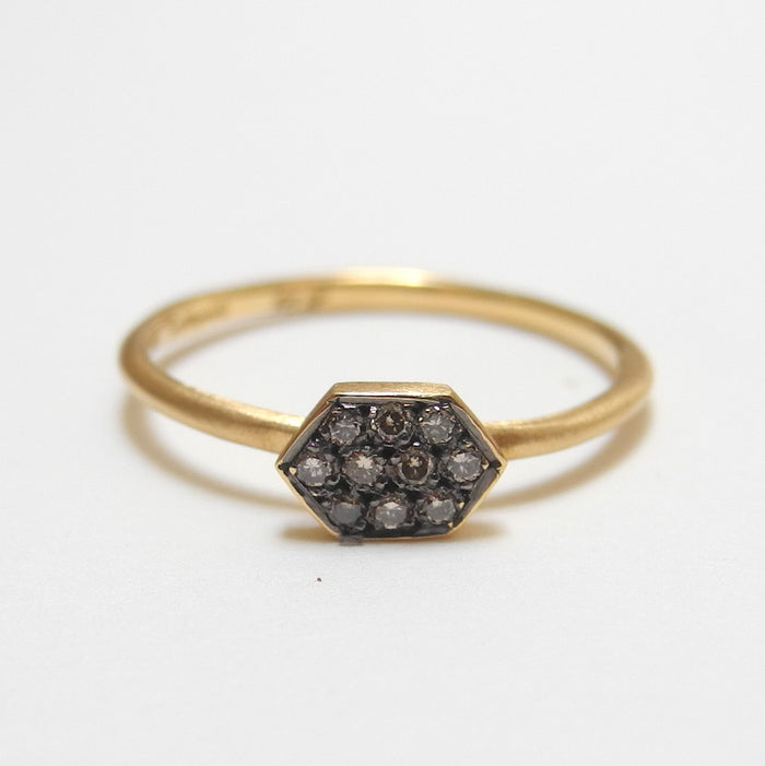 18k Brown Diamond Arrow Ring