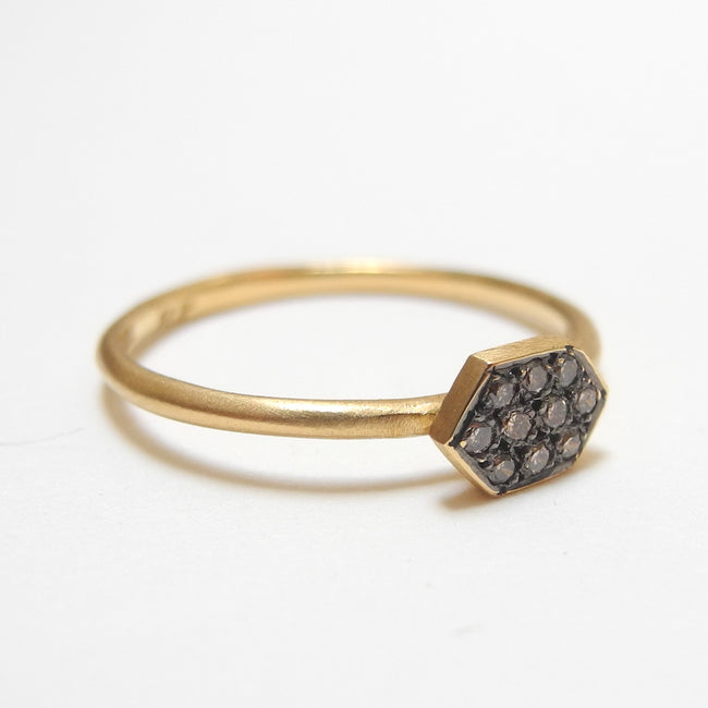 Brown Diamond Arrow Ring, Ring, Satomi Kawakita, Collyer's Mansion - Collyer's Mansion