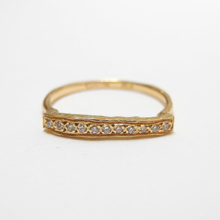 18k Gold Diamond Bridge Ring