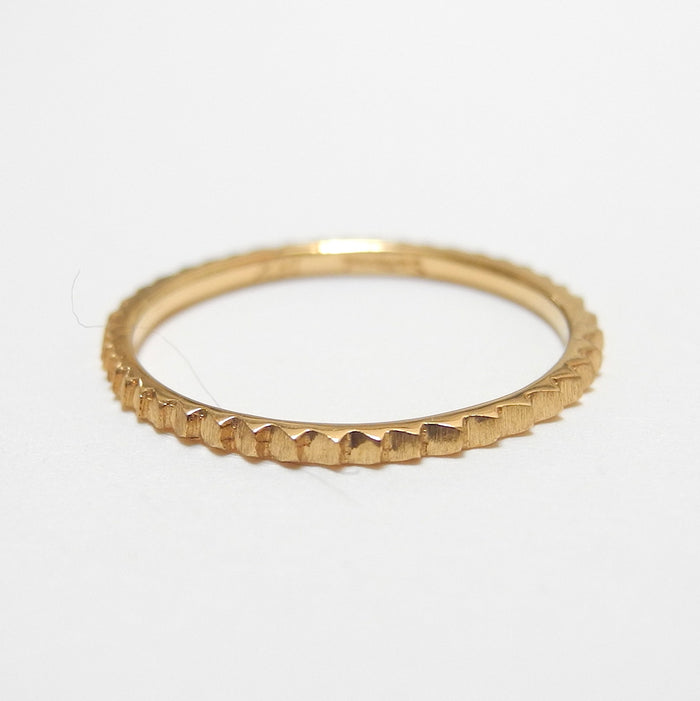 18k Gold Gear Ring