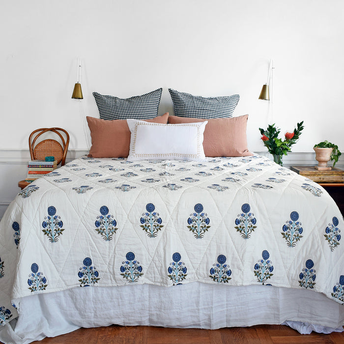 Kusum Blue Quilt, twin or queen