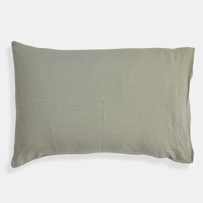 Linen Standard Pillowcase, fennel