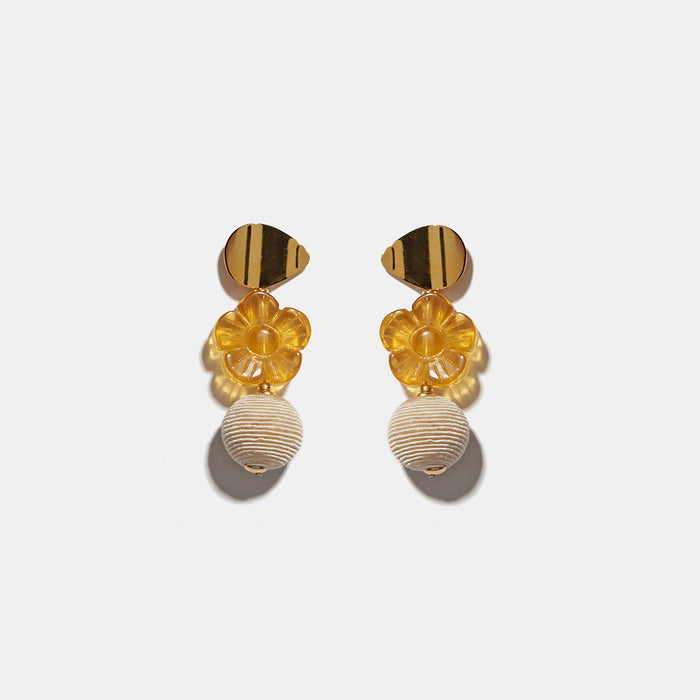Goldenrod Column Earrings, Earrings, Lizzie Fortunato, Collyer's Mansion - Collyer's Mansion