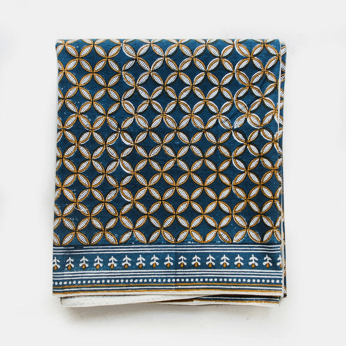 Sapna Blue Tablecloth
