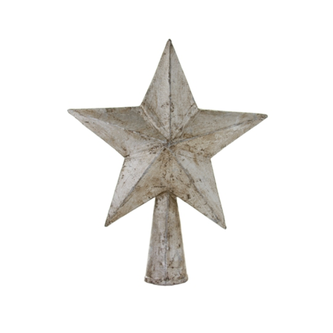 Antique Silver Star Tree Topper