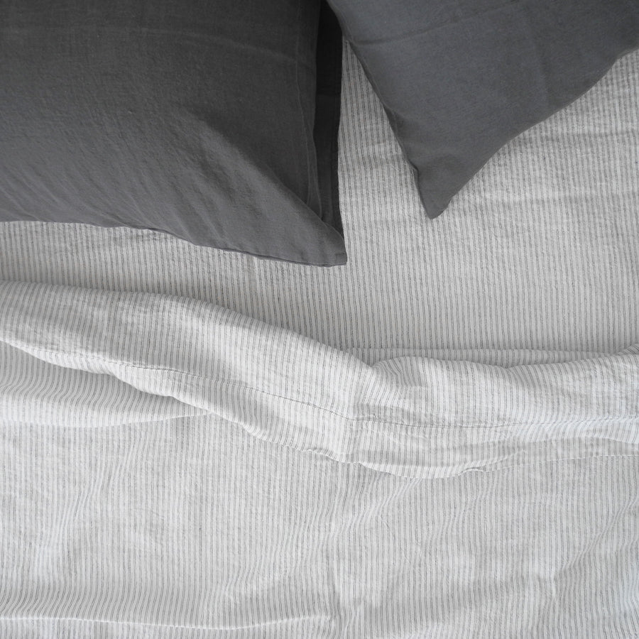 Linen Flat Sheet, pyjama stripe, Sheet, Linge Particulier, Collyer's Mansion - Collyer's Mansion