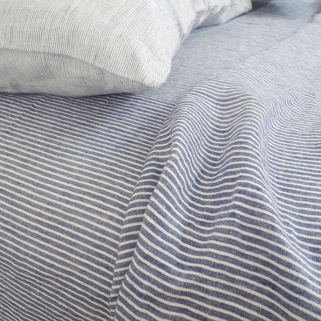 Linen Flat Sheet, shirt stripe, Sheet, Linge Particulier, Collyer's Mansion - Collyer's Mansion