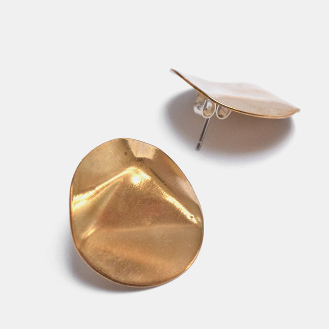 Slantt Dauphine Stud Earrings in Brass create sculptural statement jewelry - Collyer's Mansion