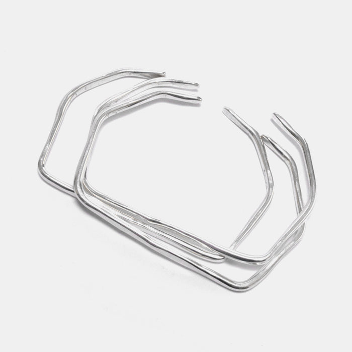 Slantt Hex Cuff Bracelet in Sterling Silver is a great for sculptural statement jewelry - Collyer's Mansion