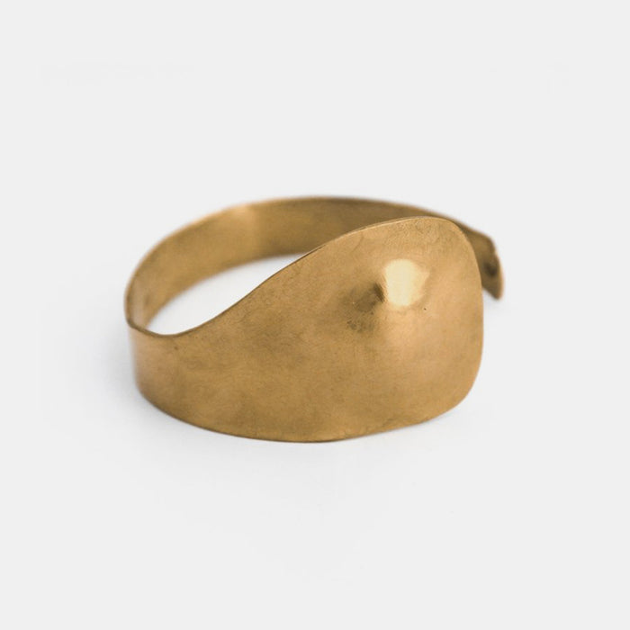 Slantt Juno Cuff Bracelet in Brass is the perfect sculptural statement jewelry - Collyer's Mansion